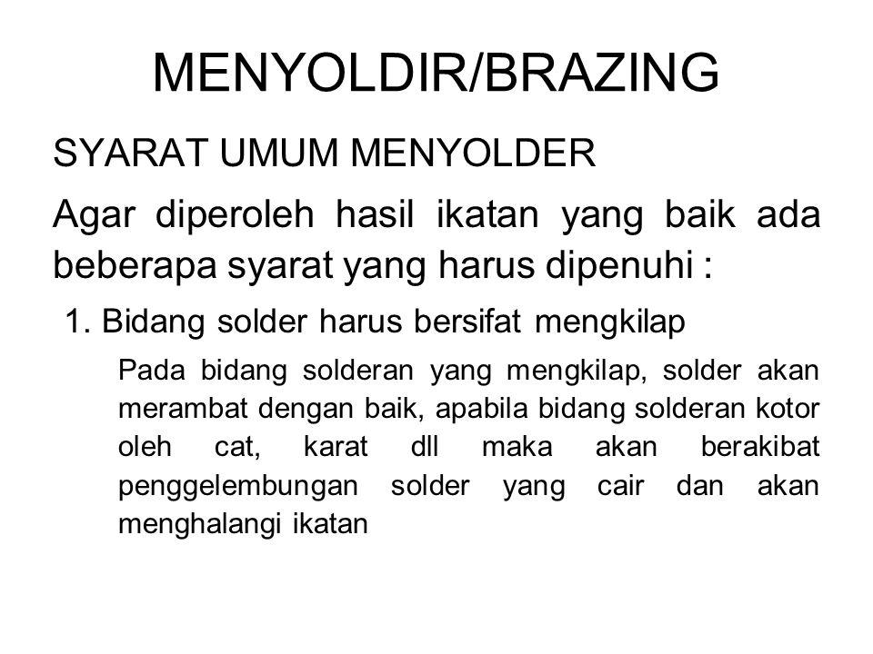 MENYOLDIR/BRAZING SYARAT UMUM MENYOLDER