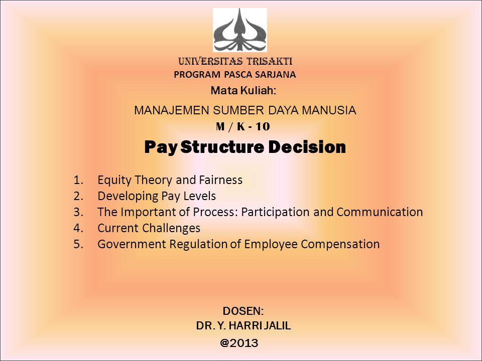 Pay Structure Decision