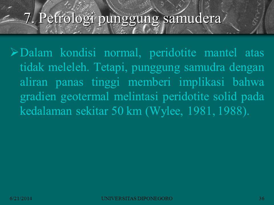 7. Petrologi punggung samudera