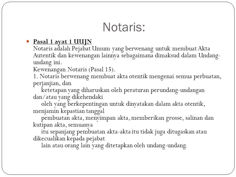 Notaris: