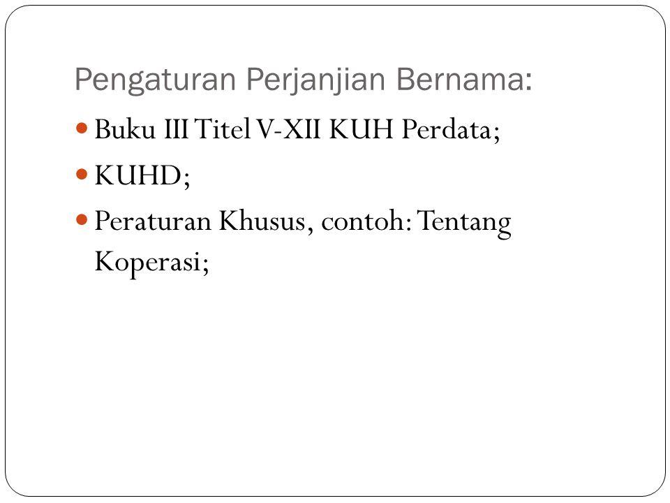 Pengaturan Perjanjian Bernama: