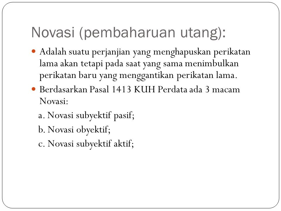 Novasi (pembaharuan utang):