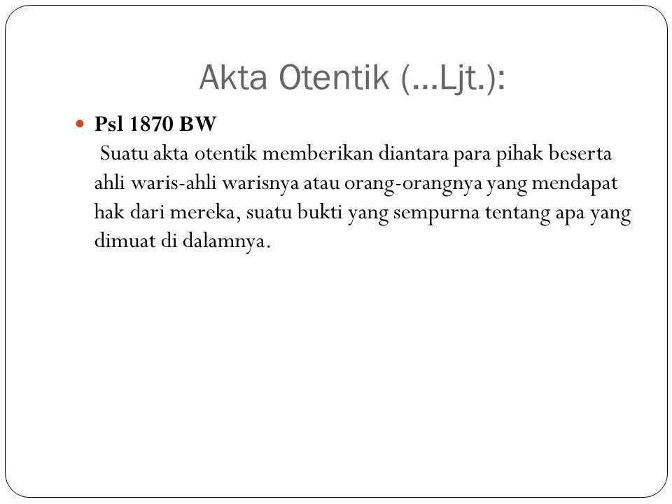 Akta Otentik (…Ljt.):