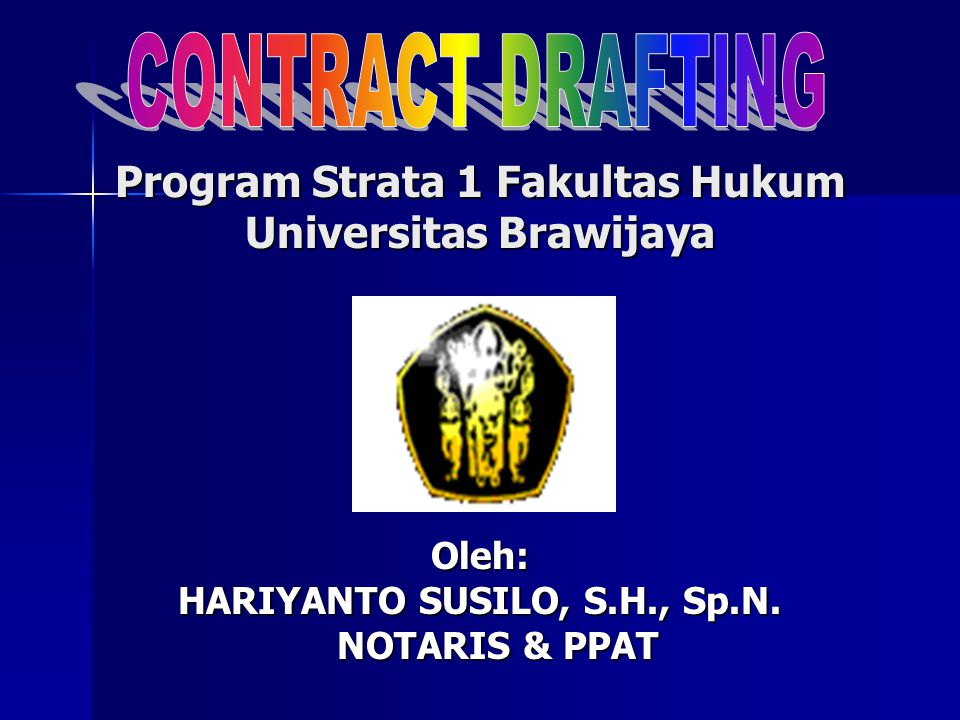 Program Strata 1 Fakultas Hukum Universitas Brawijaya