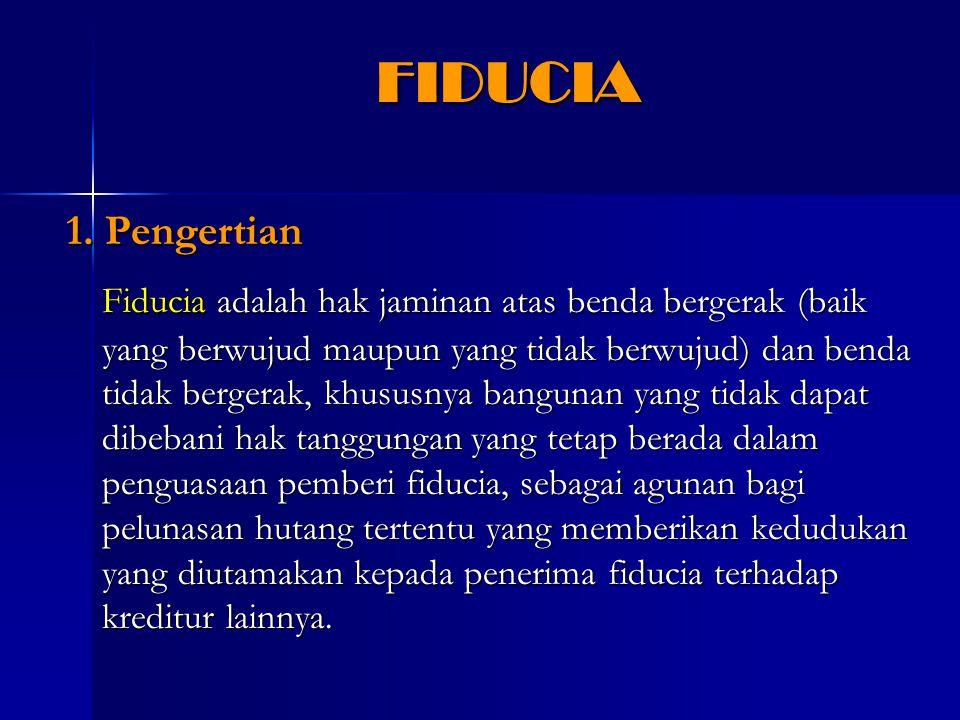 FIDUCIA 1. Pengertian.