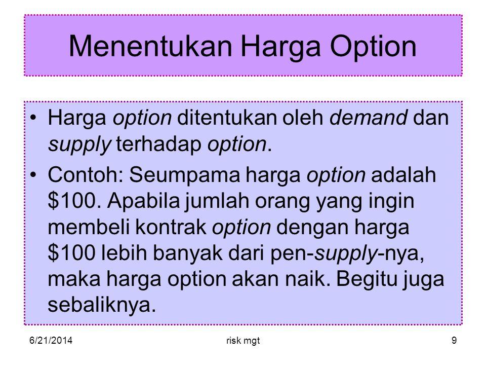 Menentukan Harga Option