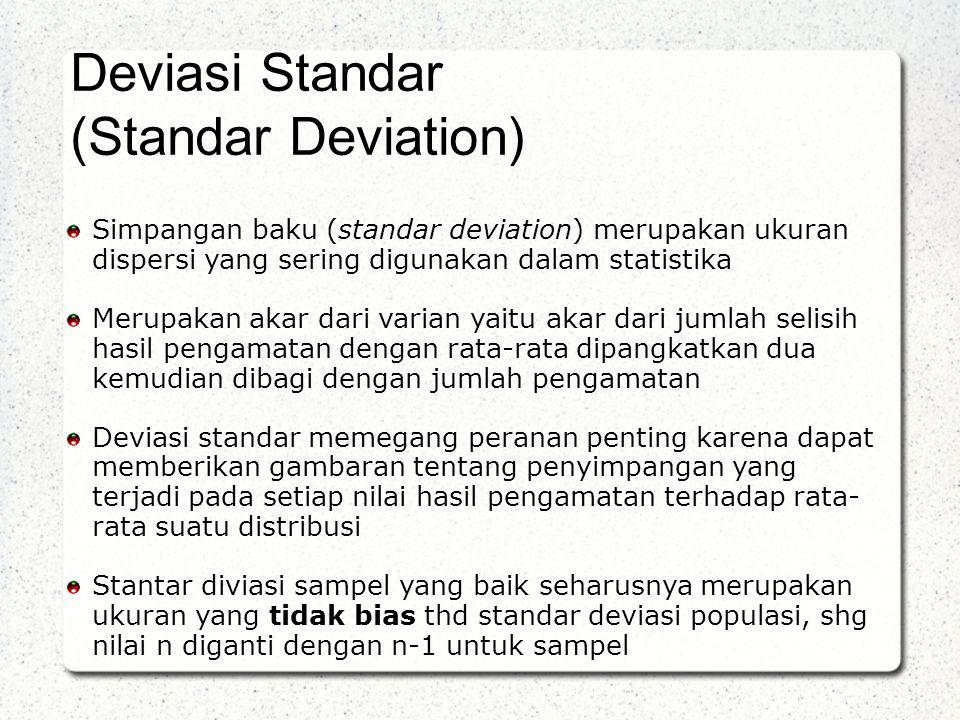 Deviasi Standar (Standar Deviation)