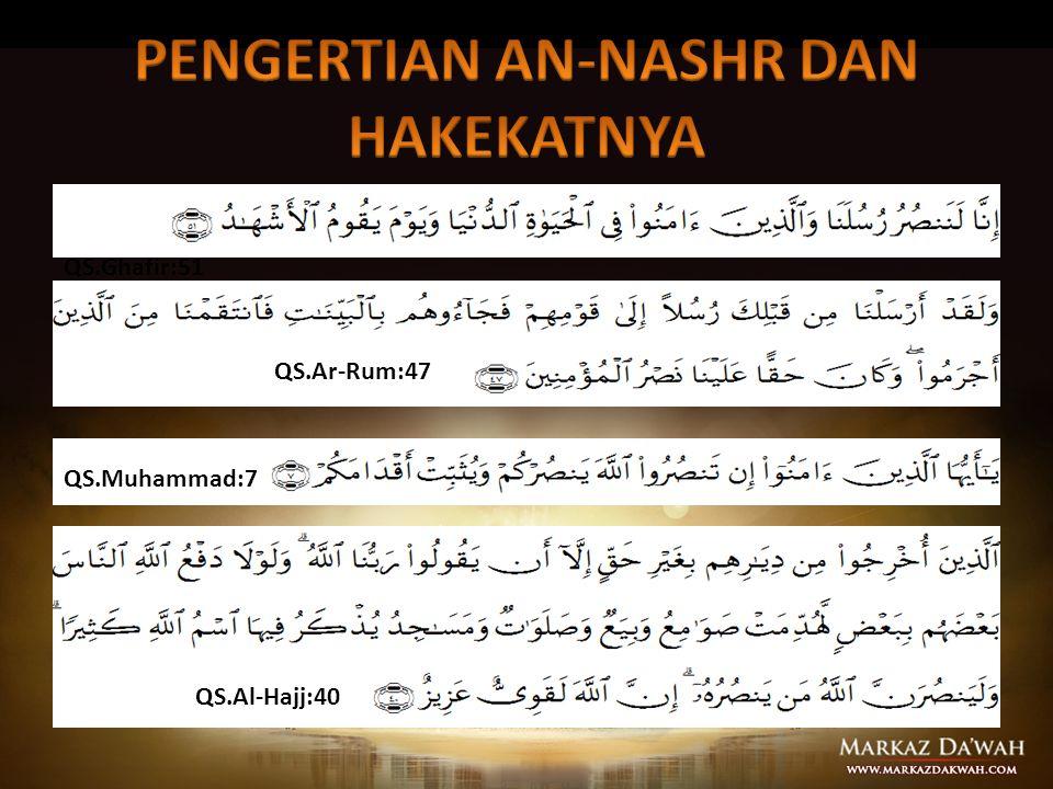 PENGERTIAN AN-NASHR DAN HAKEKATNYA