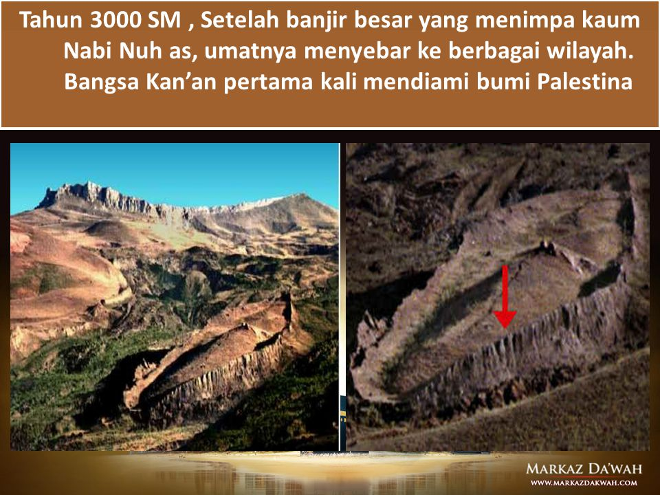 Tahun 3000 SM , Setelah banjir besar yang menimpa kaum Nabi Nuh as, umatnya menyebar ke berbagai wilayah.