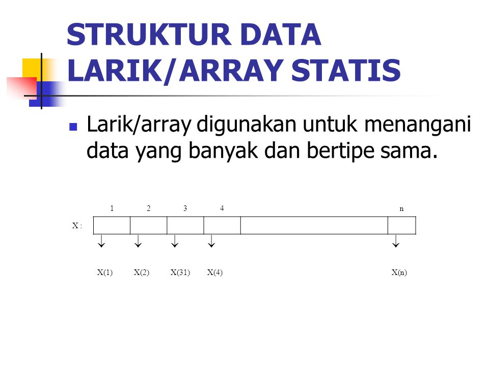 STRUKTUR DATA LARIK/ARRAY STATIS