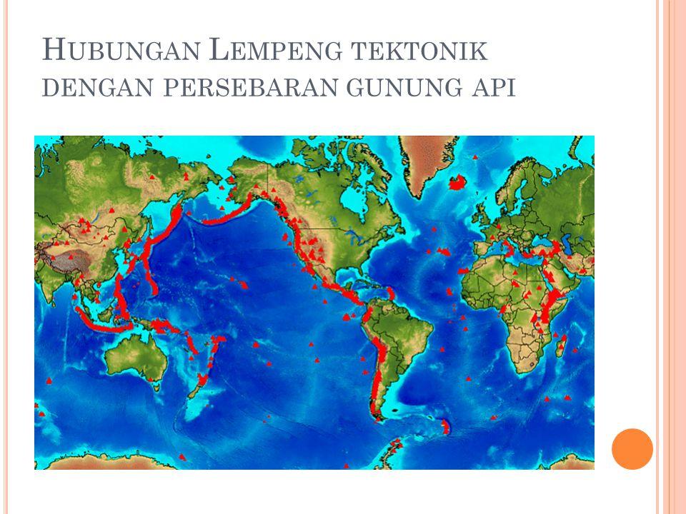 Hubungan Lempeng tektonik dengan persebaran gunung api