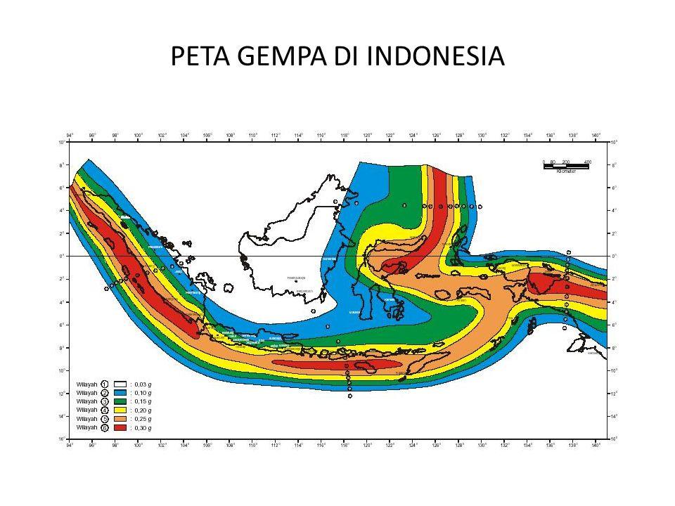 PETA GEMPA DI INDONESIA