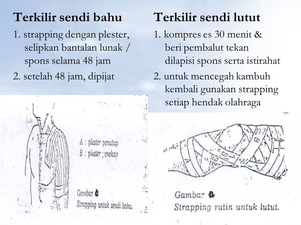 Terkilir sendi bahu Terkilir sendi lutut