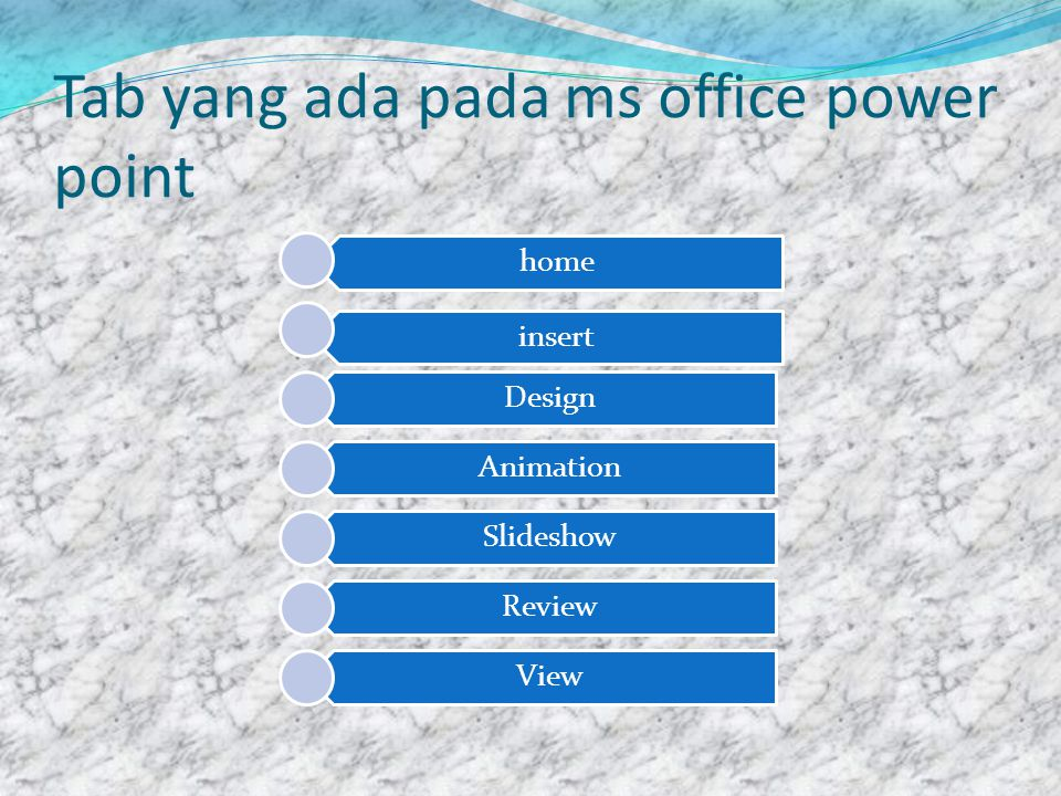 Tab yang ada pada ms office power point