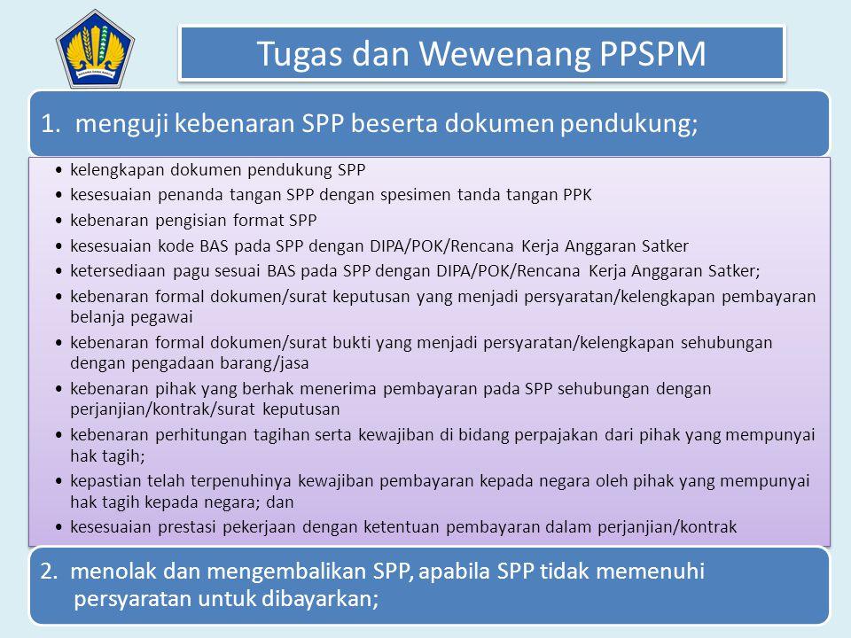 Tugas dan Wewenang PPSPM