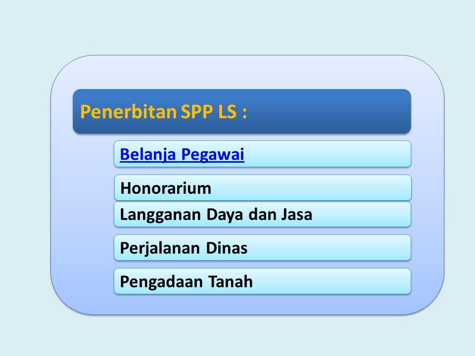 Penerbitan SPP LS : Belanja Pegawai Honorarium Langganan Daya dan Jasa