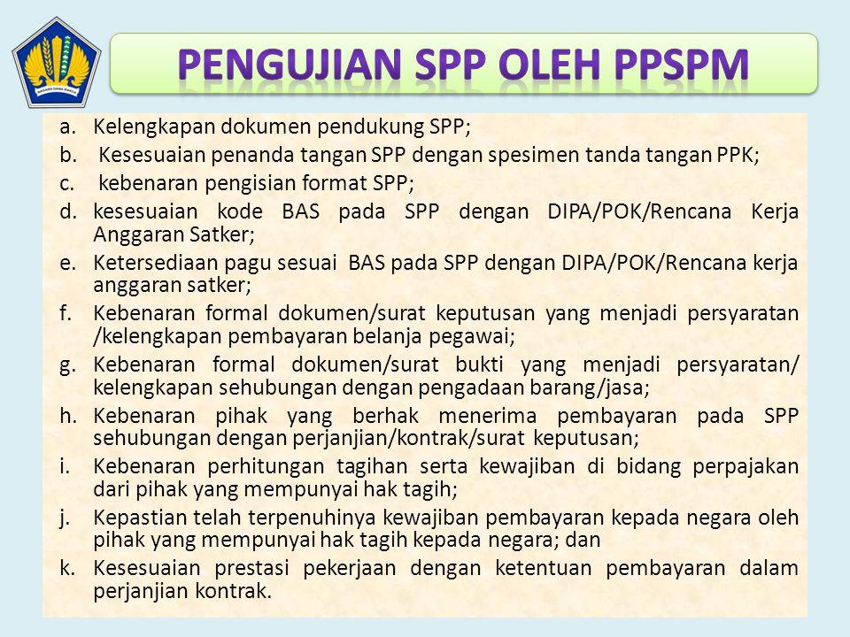 Pengujian SPP oleh PPSPM