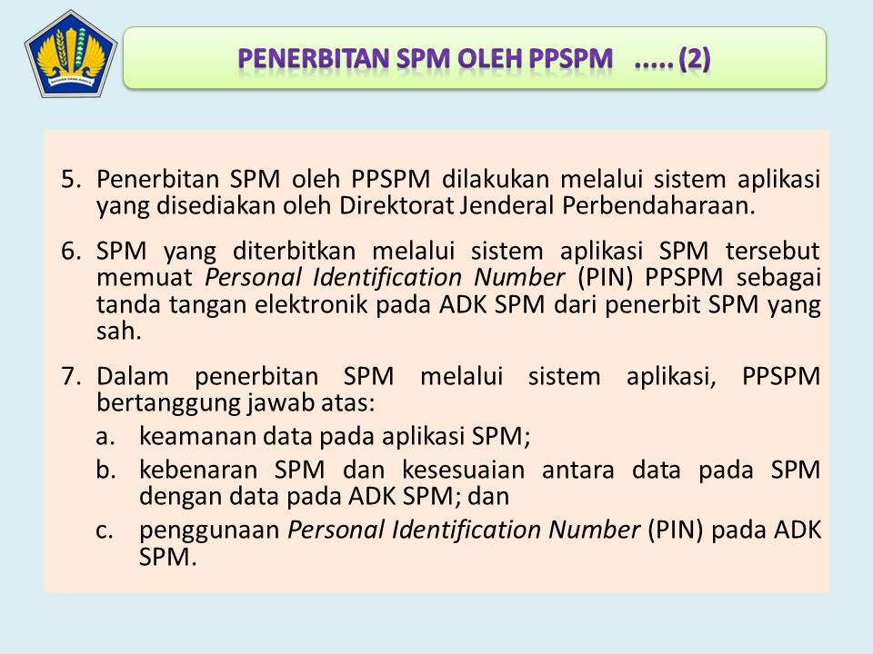penerbitan SPM oleh PPSPM ..... (2)