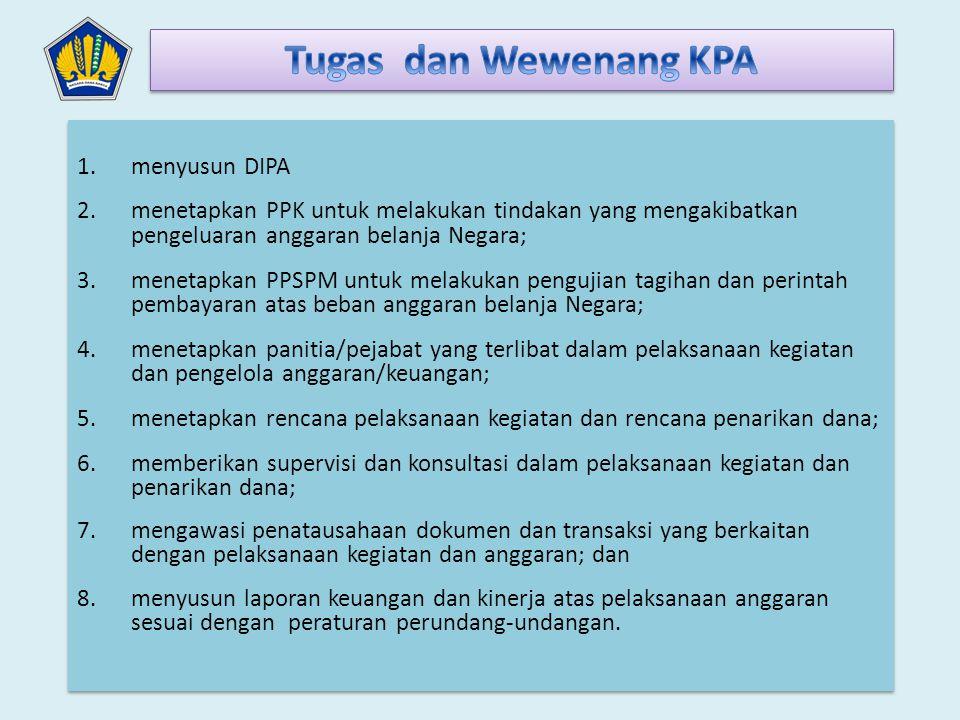Tugas dan Wewenang KPA menyusun DIPA