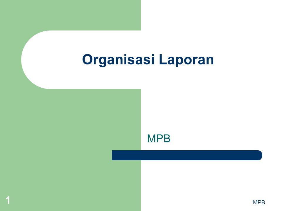 Organisasi Laporan MPB MPB