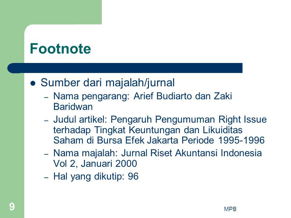 Footnote Sumber dari majalah/jurnal