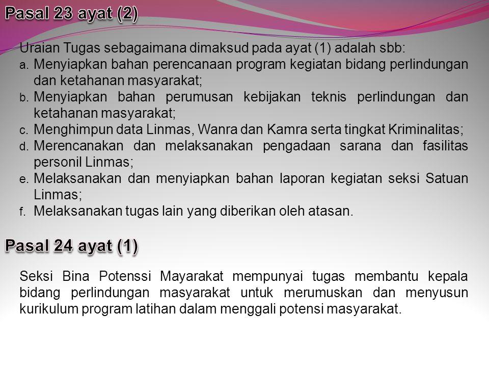 Pasal 23 ayat (2) Pasal 24 ayat (1)