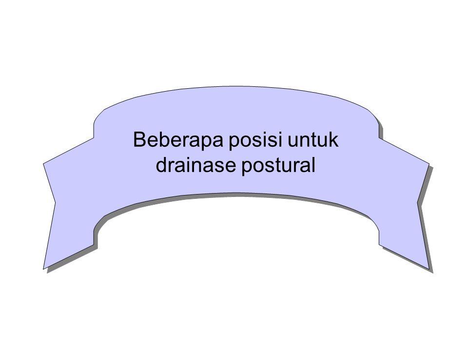 Beberapa posisi untuk drainase postural