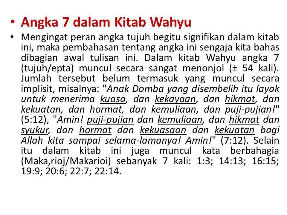 Angka 7 dalam Kitab Wahyu