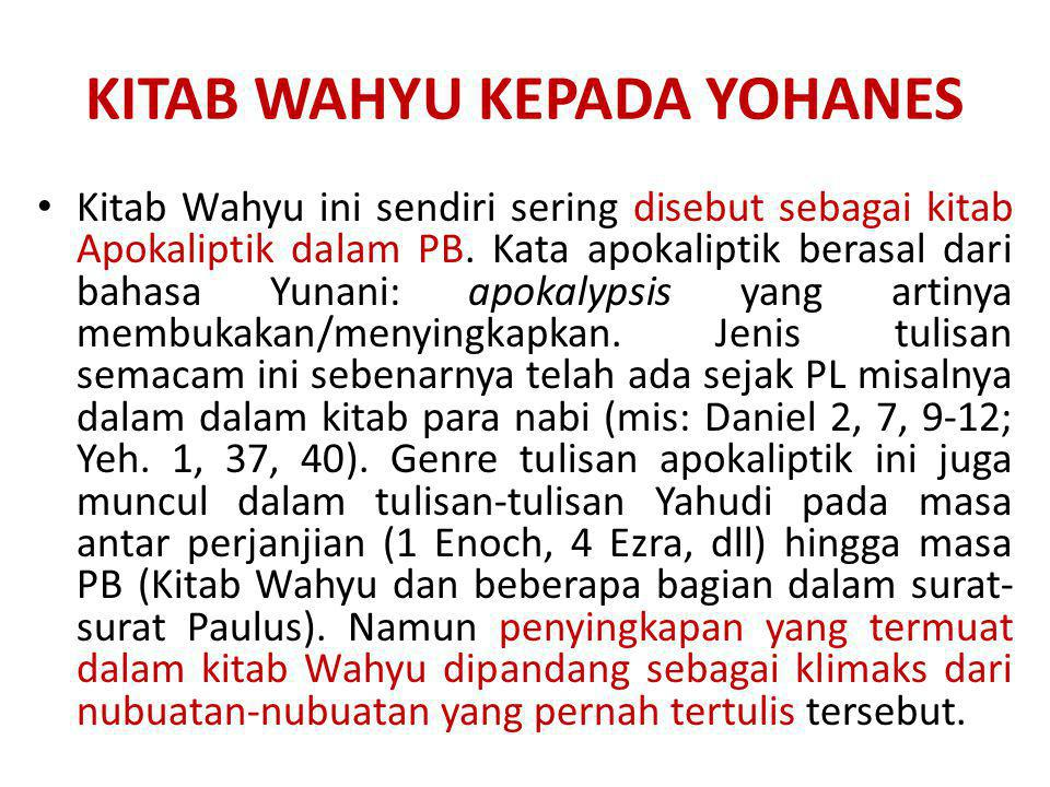 KITAB WAHYU KEPADA YOHANES