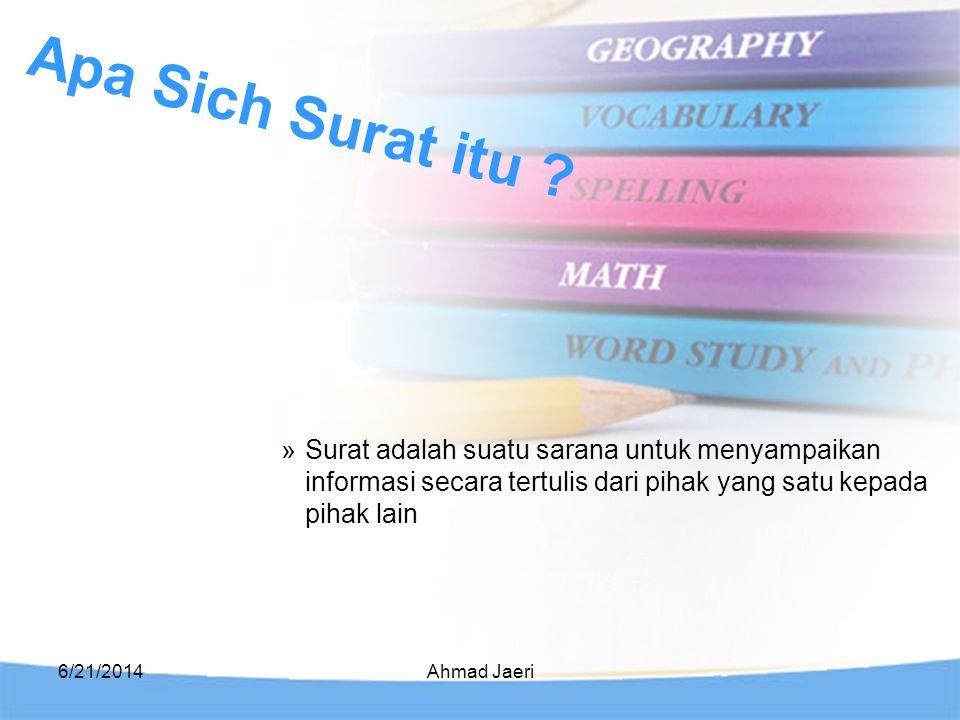 Apa Sich Surat itu Surat adalah suatu sarana untuk menyampaikan informasi secara tertulis dari pihak yang satu kepada pihak lain.