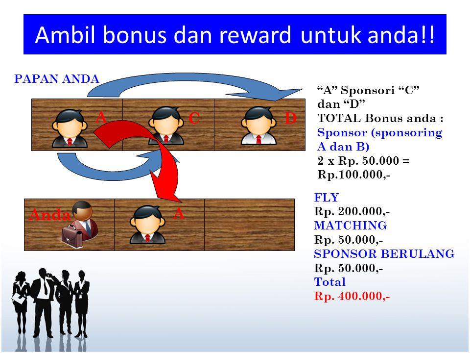 Ambil bonus dan reward untuk anda!!