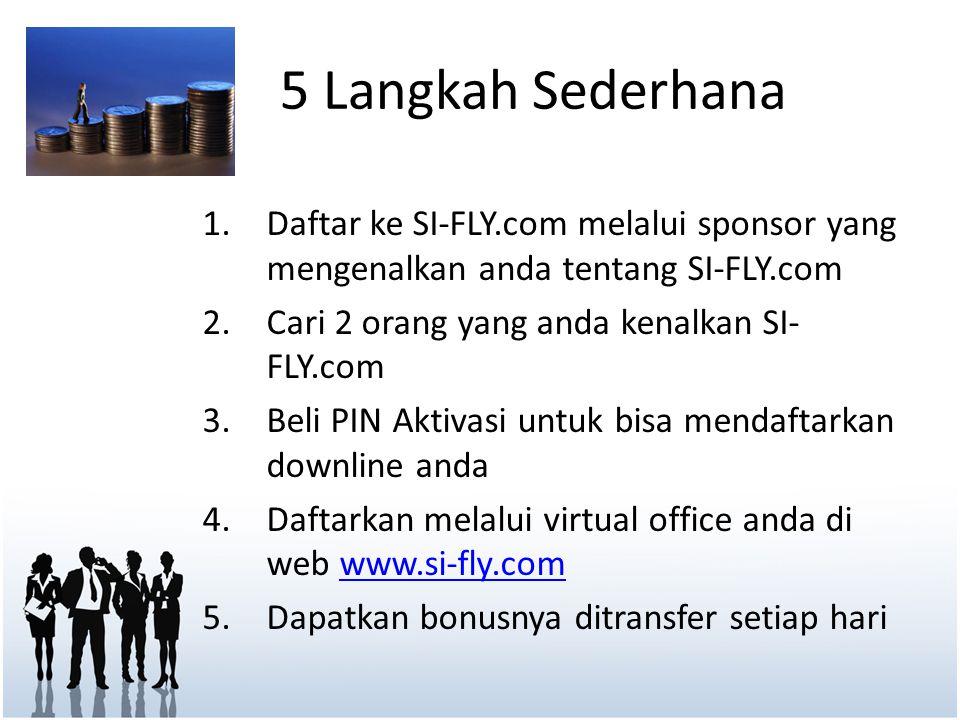 5 Langkah Sederhana Daftar ke SI-FLY.com melalui sponsor yang mengenalkan anda tentang SI-FLY.com. Cari 2 orang yang anda kenalkan SI-FLY.com.