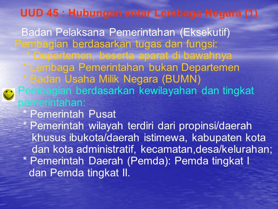 UUD 45 : Hubungan antar Lembaga Negara (1)