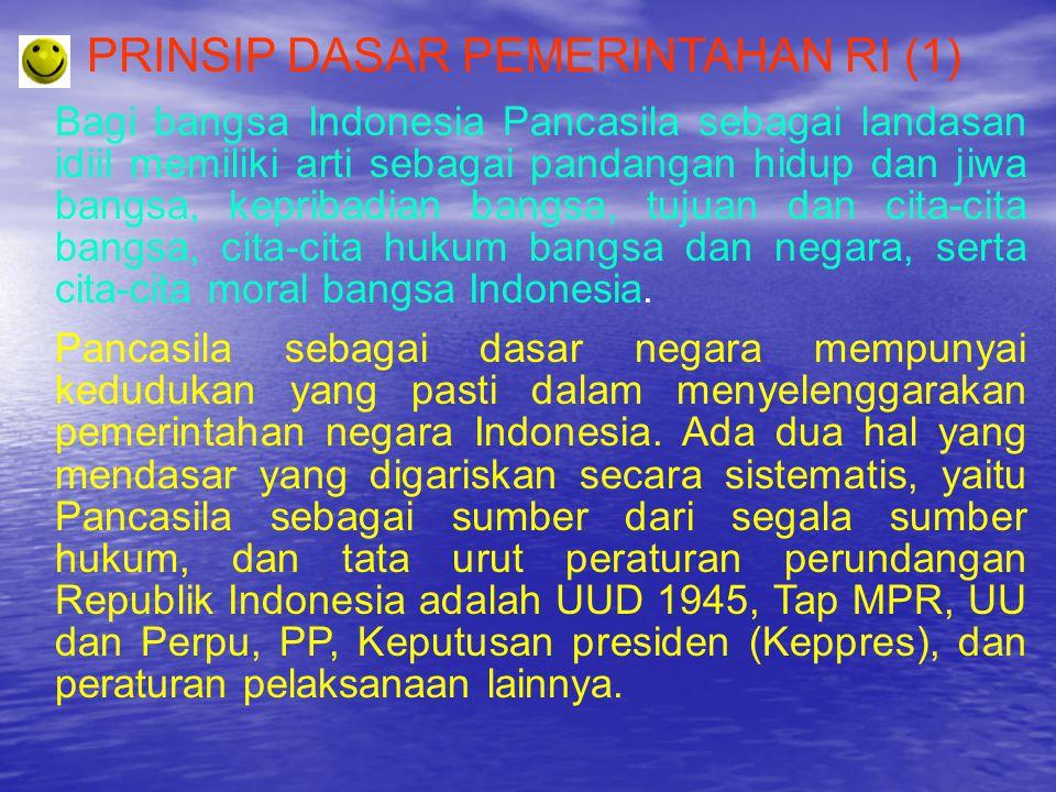 PRINSIP DASAR PEMERINTAHAN RI (1)
