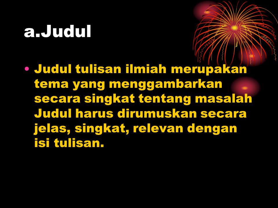 a.Judul