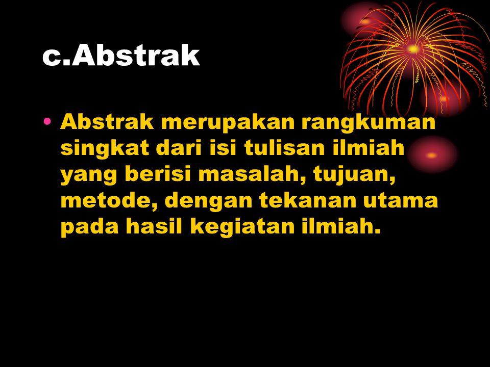 c.Abstrak