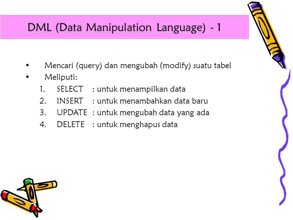 DML (Data Manipulation Language) - 1