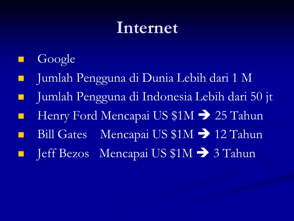 Internet Google Jumlah Pengguna di Dunia Lebih dari 1 M