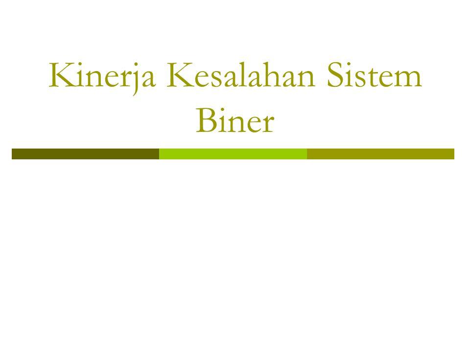 Kinerja Kesalahan Sistem Biner
