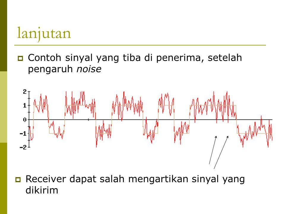 lanjutan Contoh sinyal yang tiba di penerima, setelah pengaruh noise