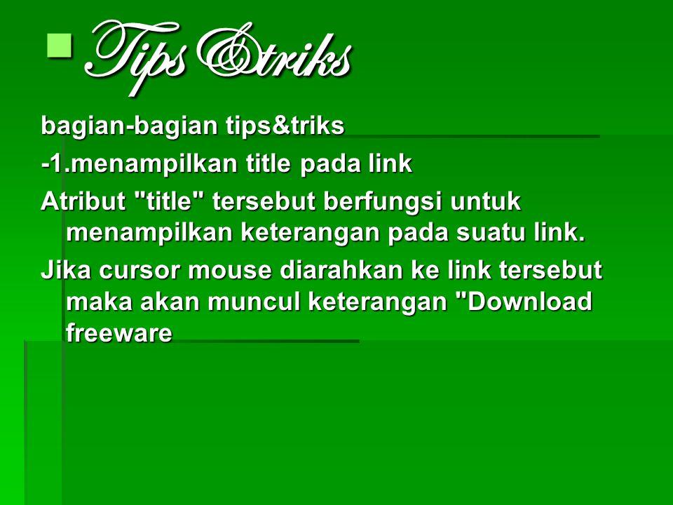 Tips&triks bagian-bagian tips&triks -1.menampilkan title pada link