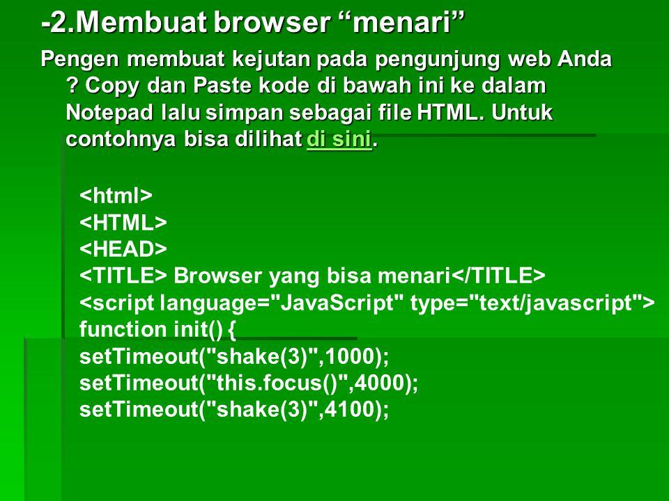 -2.Membuat browser menari