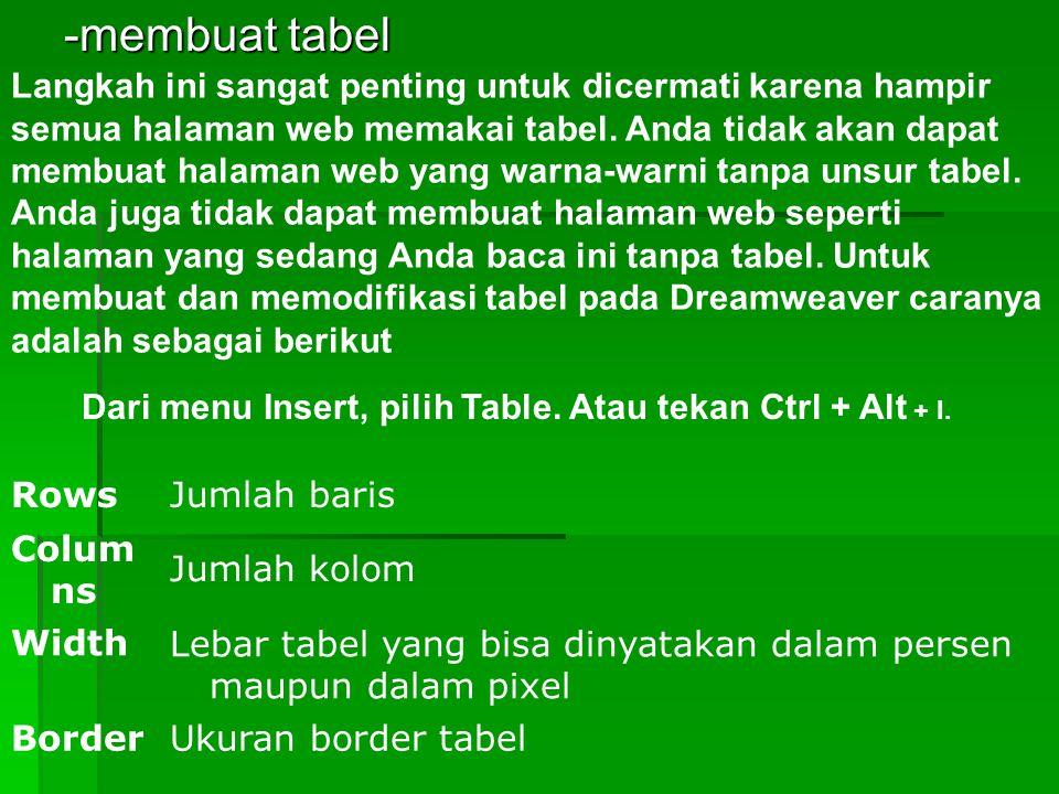 -membuat tabel
