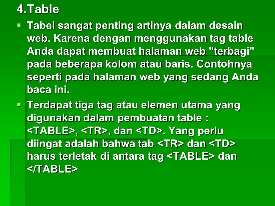 4.Table