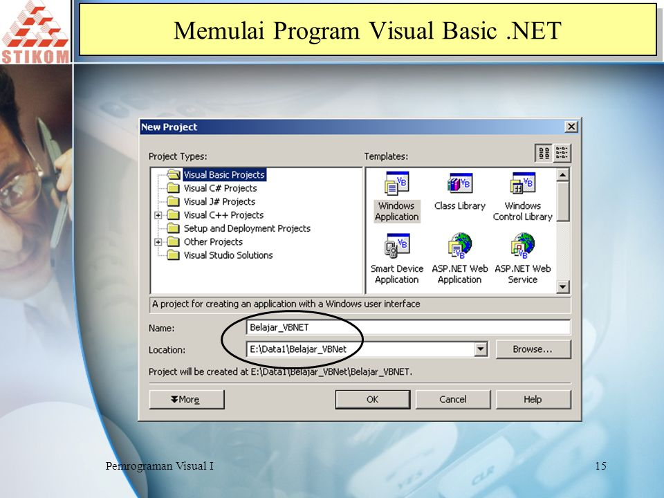 Memulai Program Visual Basic .NET