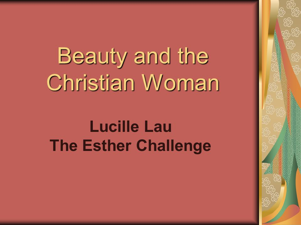 Beauty and the Christian Woman