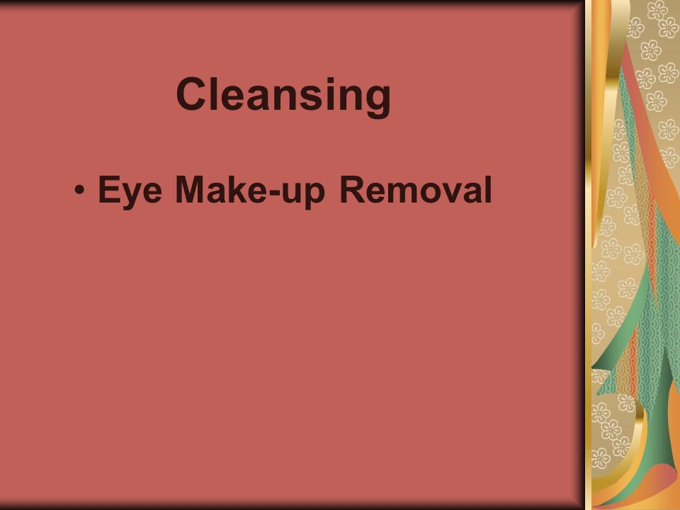 Cleansing Eye Make-up Removal