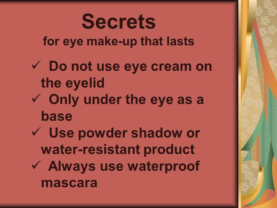 for eye make-up that lasts
