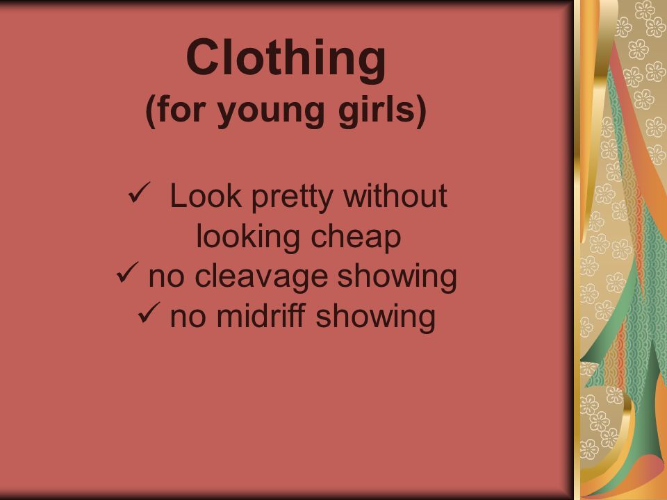 Look pretty without looking cheap