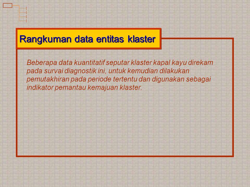 Rangkuman data entitas klaster
